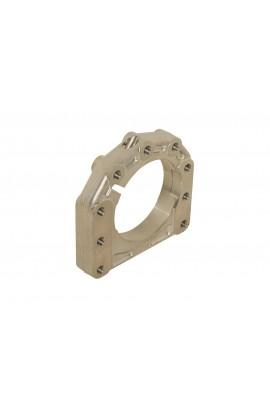 Supporto assale disassato 5 mm Ø 40 - 50 mm AL forgiato 3 posizioni - centrale / destro otk