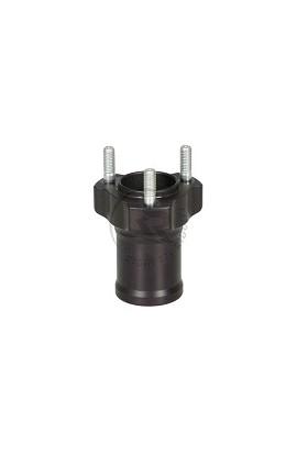 Mozzo Ruota L.75mm D.17mm in Alluminio Nero