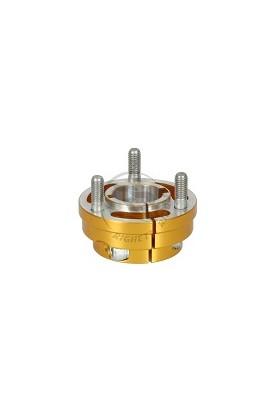 Mozzo Ruota Leggero D.30mm L.35mm CH6/8mm in Alluminio Oro
