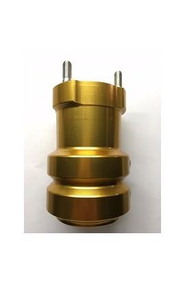 Mozzo in Alluminio Anodizzato 50/115-8 Oro, Righetti Ridolfi