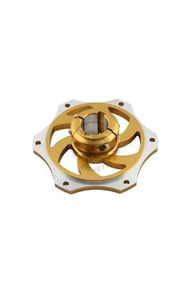 Portacorona D.30mm in Alluminio Anodizzato Oro