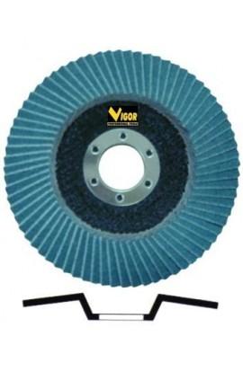 Dischi a lamelle VIGOR fibra MM.115 grana 80