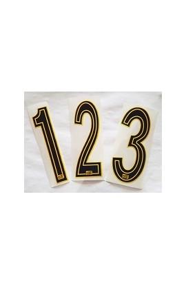 Numeri gara nero/giallo