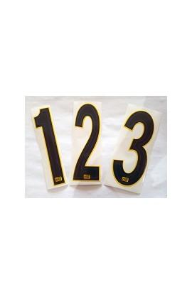 Numeri gara giallo/blu