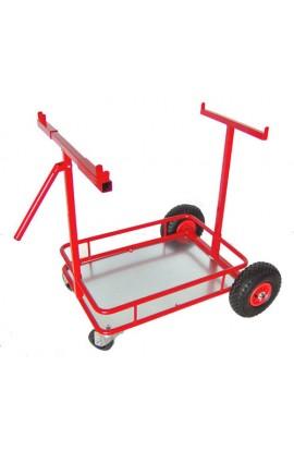 Carrello Porta Kart Eaglet Verniciato Rosso Con Ruote In Plastica