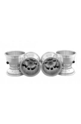 Set Cerchio Alluminio H110/140mm Cuscinetti Anteriori 17mm