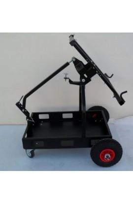 Carrello Porta Kart Ribaltabile Zincato Colore Nero