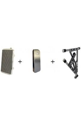 Radiatore Completo Di Attacchi/Lamella alluminio 385x290x30 Double Recircule
