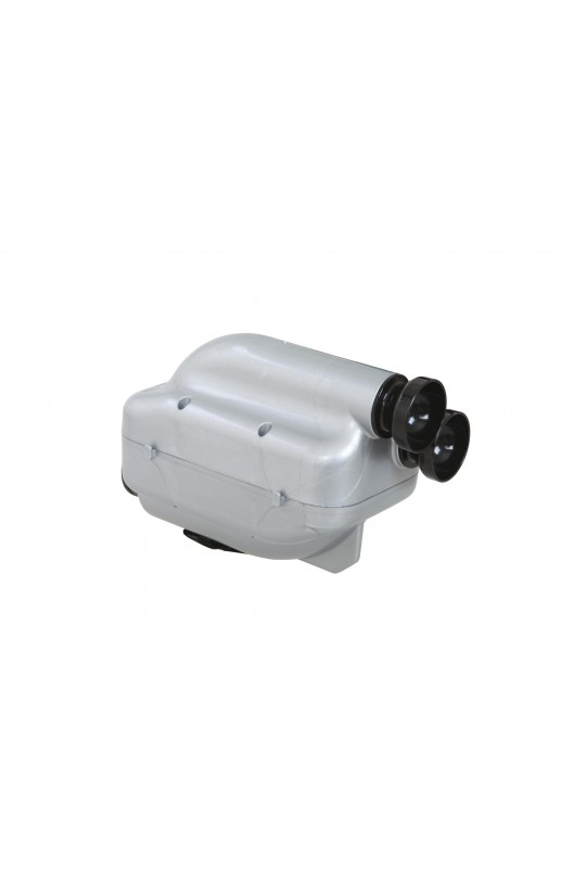 Silenziatore d'Aspirazione NOX2 D.30mm Argento/Nero (KZ/KZ2)